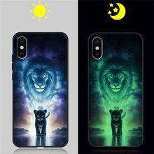 Чехол для телефона чехол для iPhone 5 5S SE 6 6S 7 8 Plus, роскошный кожаный светящийся светильник, светящаяся задняя крышка, чехол, защитный бампер(Китай)