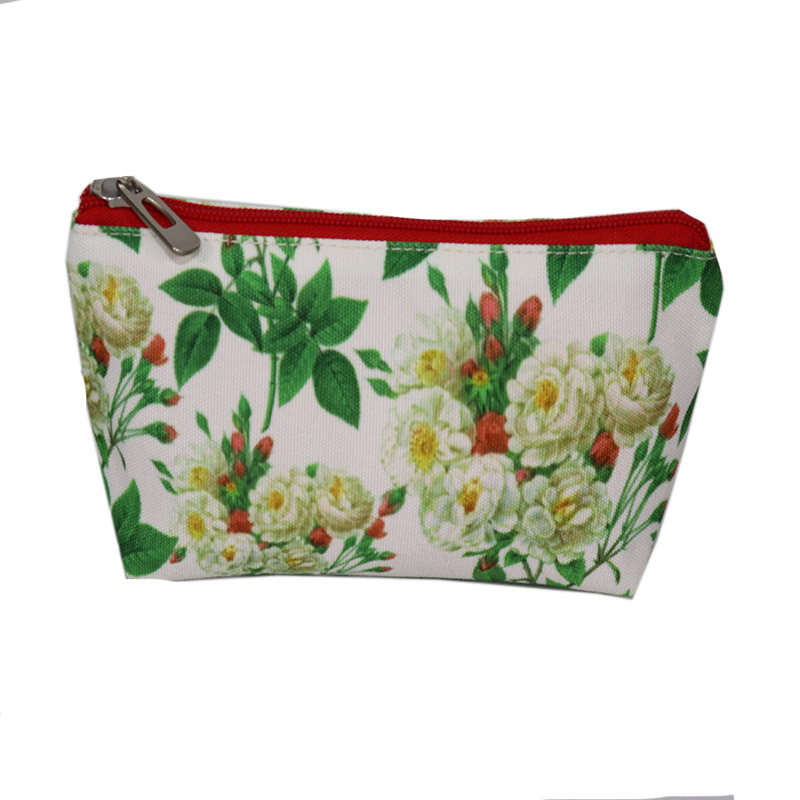 High Quality Lightweight Cotton Fashion Printing Travel Canvas Cosmetic Makeup Bag