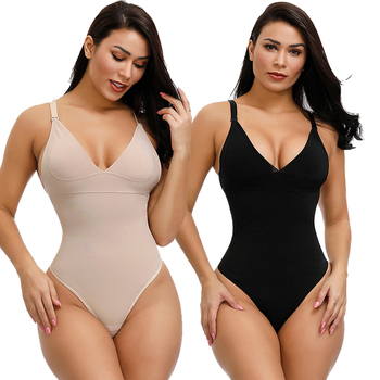 Latest Design Women Sling Push-Up Chest Body Shaper Slimming Shapewear Bodysuit