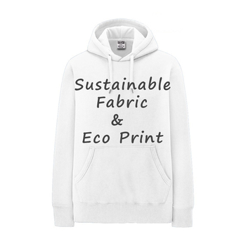 Certificated Hemp Organic Cotton Hoodie Sustaniable Apparel Mens Fleece Pullover with Custom Logo Eco friendly print