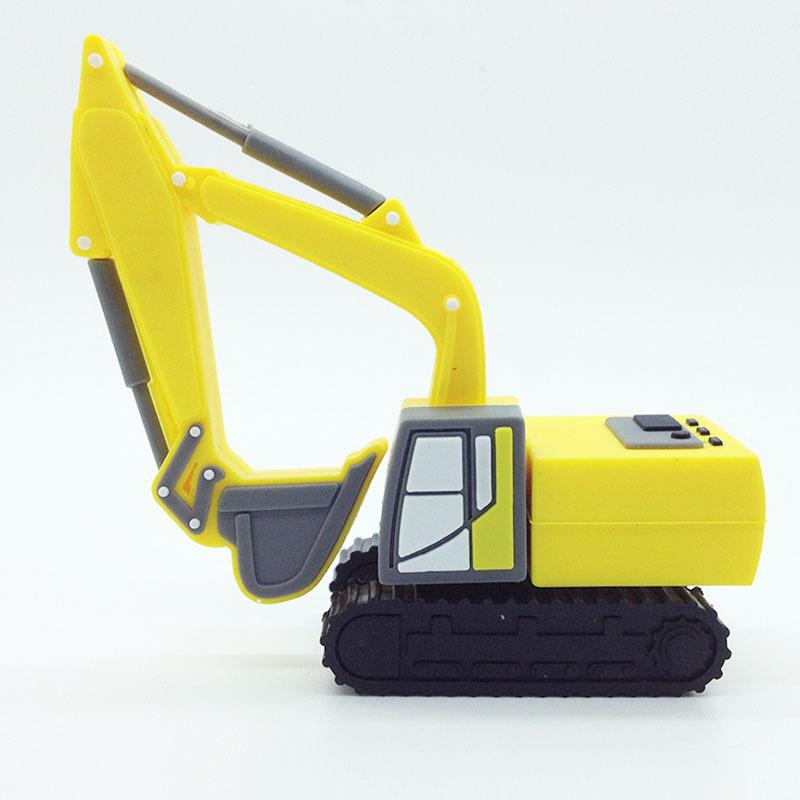 excavator usb stick/custom soft pvc rubber 3D excavator usb flash drive - USBSKY | USBSKY.NET