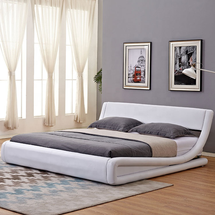 unique design bed for  curve shape popular in UK and US arabian latest double design bed