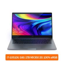 """Ноутбук Xiaomi Mi 15,6 """"Pro 2020 Upgrade MX350 ноутбук Intel i7-10510U 16 ГБ 1 ТБ SSD / i5-10210U 8 ГБ 512 ГБ SSD 100% sRGB компьютер(Китай)"""