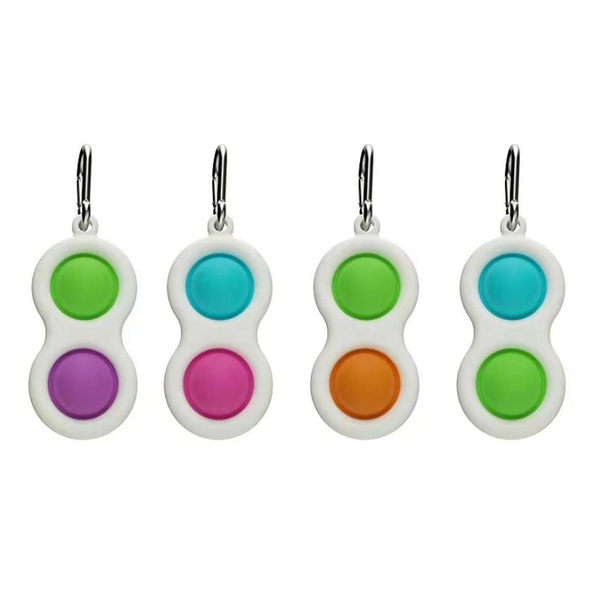 Amazon hot sale cute funny simple dimple fidget toy Office Desk Brain Toys Simple Dimple Keychain