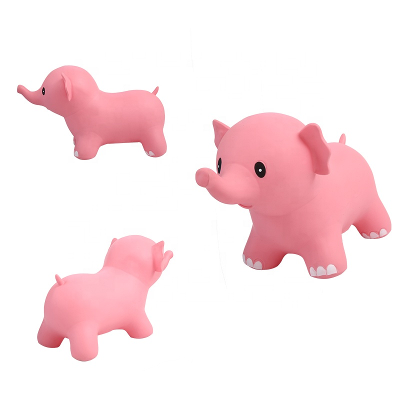 Wholesale Eco-friendly Plastic cute toys Jumping inflatable animal bouncy elephant hopper for toddlers