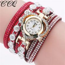 Роскошные женские часы модные кварцевые часы винтажные Стразы браслет Циферблат Аналоговые Reloj Mujer Montre Femme наручные часы Новинка(Китай)