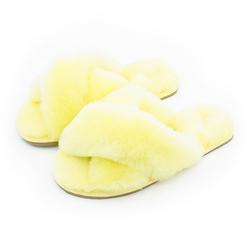 Warmlab women cozy babouche house soft customized slippers winter big fuzzy bedroom fluffy faux fur slippers ladies women