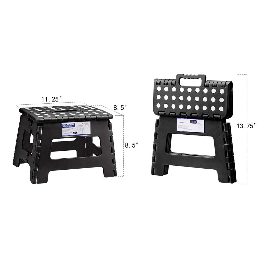 Wholesale Folding Step Stool for Kids 9Inch Tall 11Inch Wide Foldable Step Stool Black
