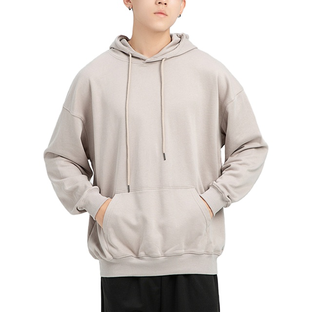 2021 high quality sweatshirt men loose vintage custom logo solid hoodies