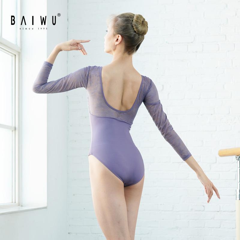 119141024, кружевные трико с длинным рукавом, Новое поступление, модные трико для балета и танцев