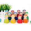 12pcs/set rainbow doll