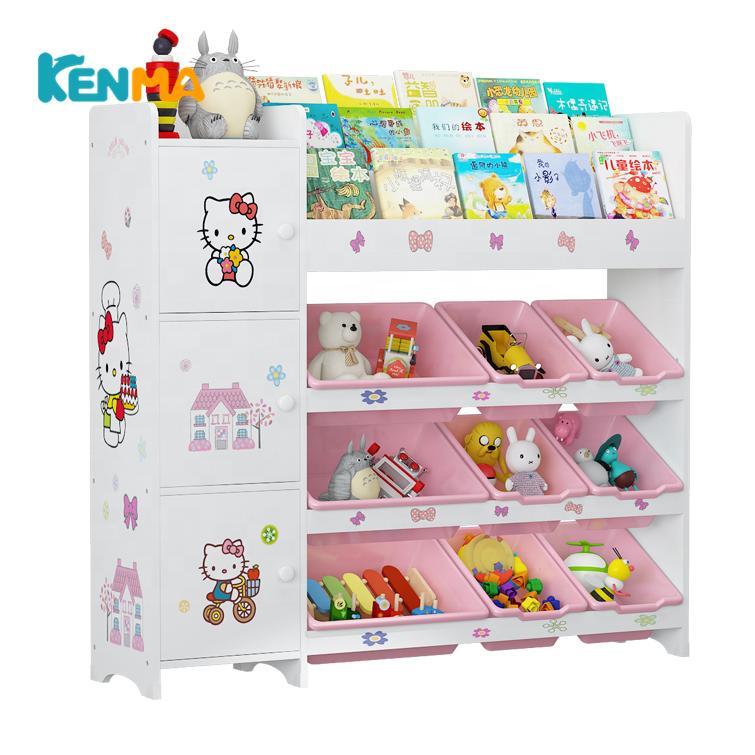 Лидер продаж, детский деревянный органайзер для хранения игрушек, детский стеллаж для хранения с Bookrack