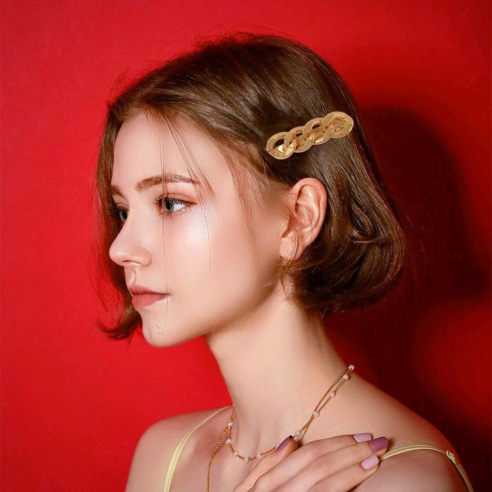 Punk Style Alloy Link Chain Hair Clip Hair Barrettes Hair Pins Sets For  Women Women's Headwear Hairpins Accessories   Buy Punk Hair Clip,Hairpins  For ...
