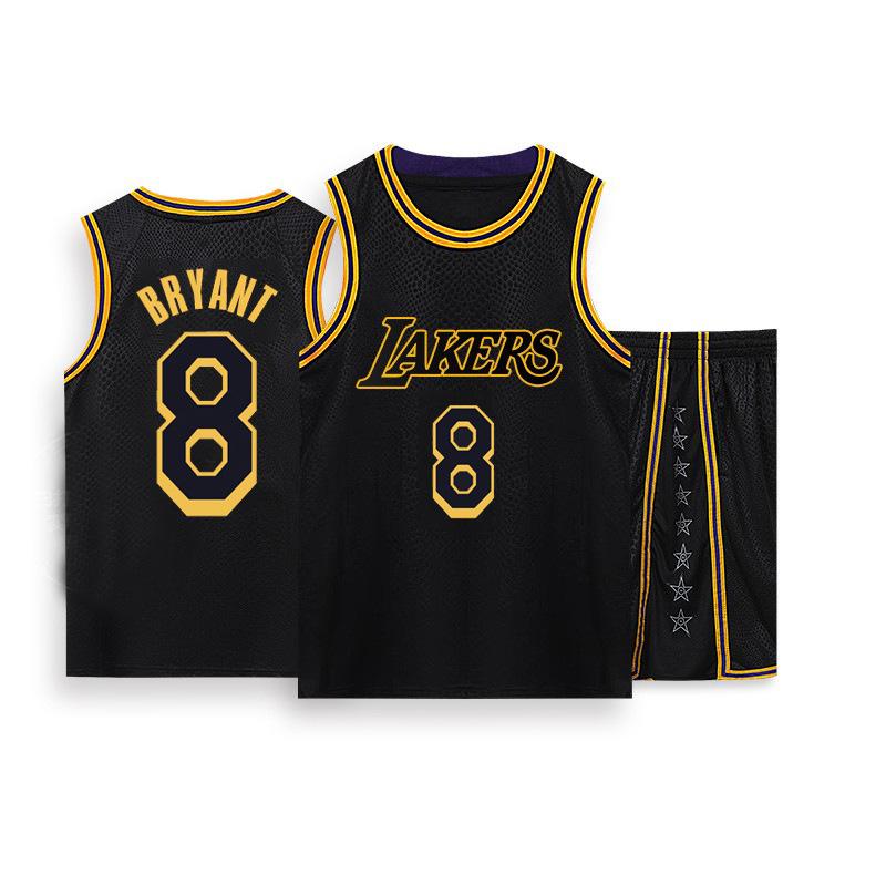 Men's #8 #24 Kobe Bryant Basketball Jerseys Black Black Golden ...