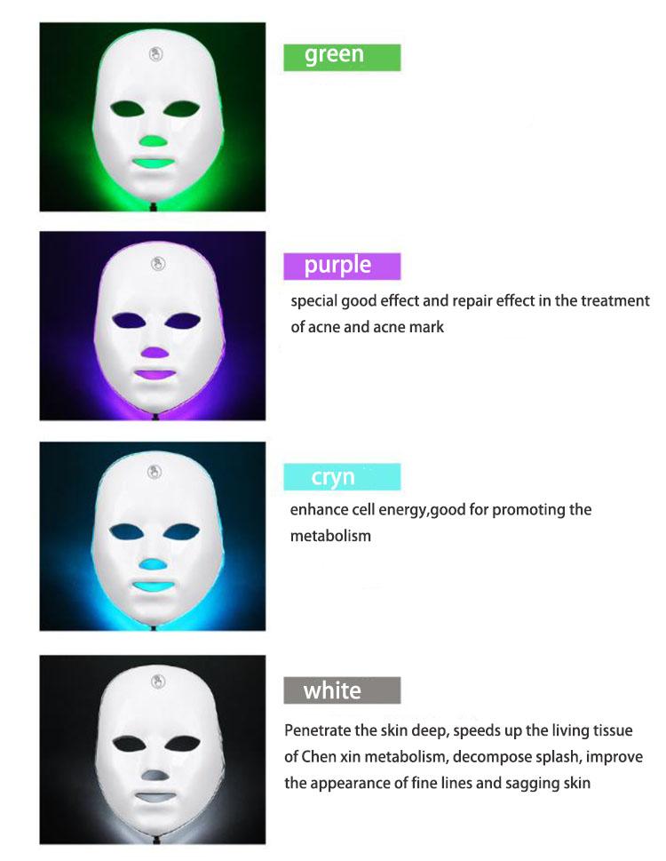 2021 PDT фотон PDT светлая лицевая кожа Красота терапия 3 вида цветов щит маска для лица светодиодная маска для лица