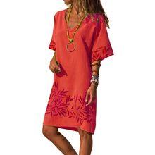 10 видов стилей женское платье большого размера, свободное дамское летнее платье трапециевидной формы, винтажные повседневные платья длино...(Китай)