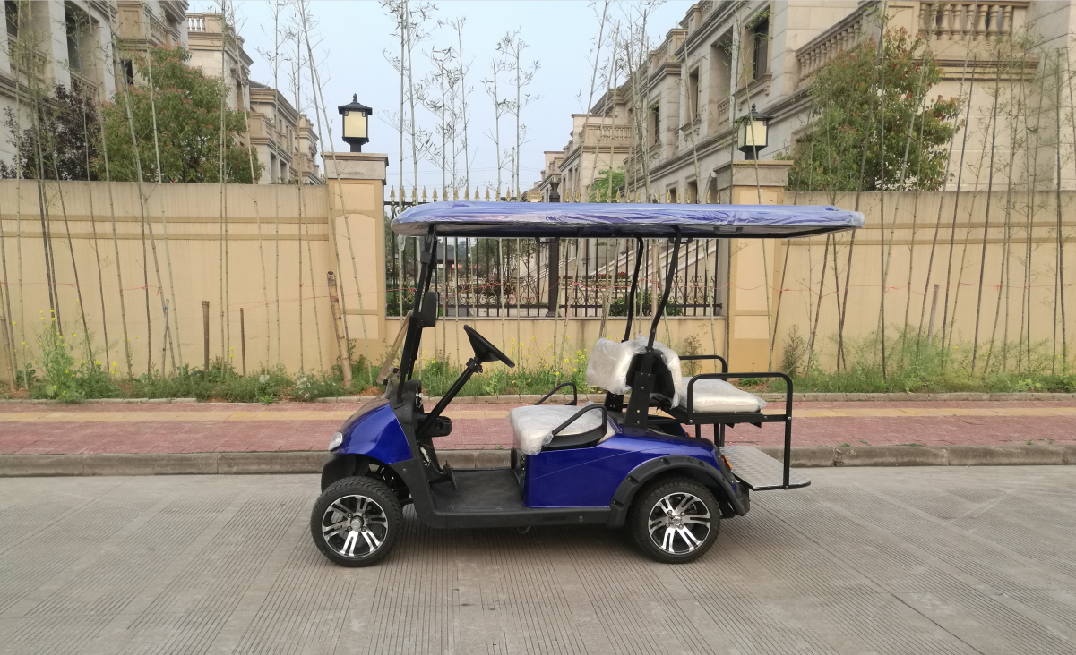 outdoor electric golf car four seats vehicle club golf carts with 2  front seat 2  nagative direction seats