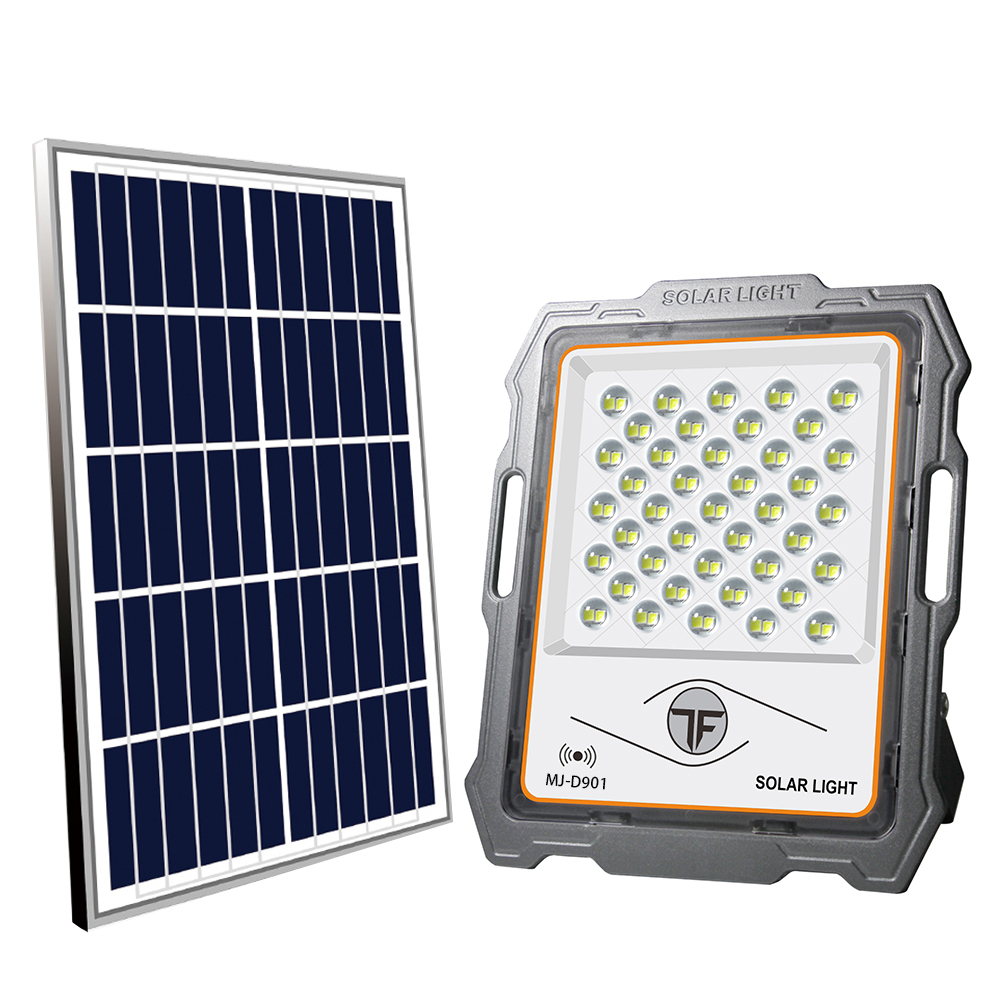 200w High lumen solar flood light with Radar sensor outdoor wall street garden lamp flooding lamp Solar Powered Spot Floodlight