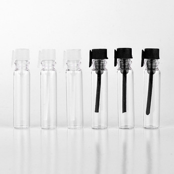 1ml 2ml 3ml Empty Clear Perfume Tester Glass Bottle With Plastic Plug Or Stopper