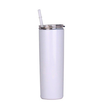 Best Sales 20/30 oz double wall insulated mugs with slide lid and straw sublimation blank skinny tumbler