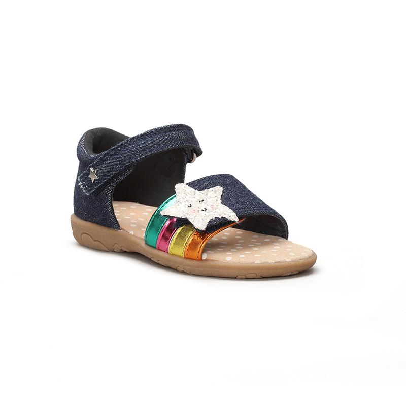 Модные уникальные детские босоножки унисекс с изображением облаков, левой и правой стопы, сандалии на плоской подошве для маленьких детей, 2021