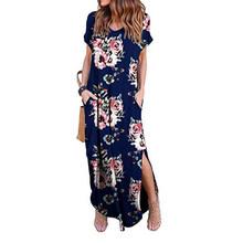 Платье в пол женское с коротким рукавом для лета(Китай)
