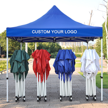 Cheap Portable 3x3 Folding, Pop Up Gazebo With Side Walls Printed Canopy Tents For Trade Shows Aluminum Outdoor Waterproof/