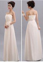 Распродажа, длинные шифоновые платья подружки невесты со шнуровкой сзади, а-силуэта, платье для свадебной вечеринки для гостей, скидка(Китай)