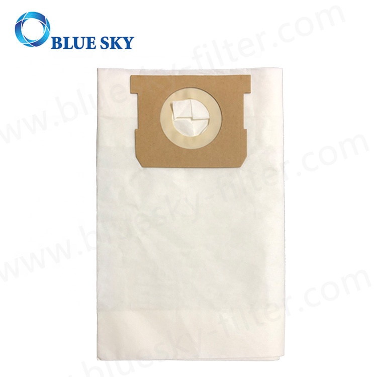 White Paper Medium Efficiency Disposable Dust Bag for Shop-VAC 5-8 Gallon Vacuum Cleaners Replace # 9066100