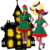 Fashion parent-child outfit christmas adult kids Halloween christmas costume