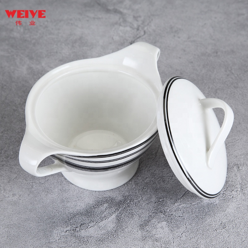 WEIYE 6.5 inch customized suger canister with lid for Cafe and home use &A13212F705