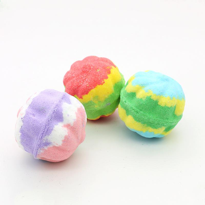2021 Natural Rose Essential Oils Bathbobms Colorful Fruit Shape Of Bubble Bath Balls