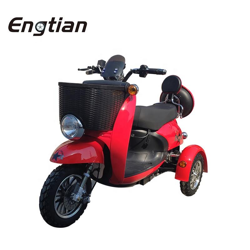 Безопасный 1000w 3 трицикл трехколесный грузовой Погрузчик Электрический взрослый с литиевой батареей
