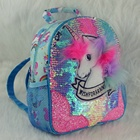 School Bag Backpack 2020 New Cute Fashion Sequin Glitter School Book Bag Lovely Girls Sequin Unicorn Backpack Outdoor Backpack