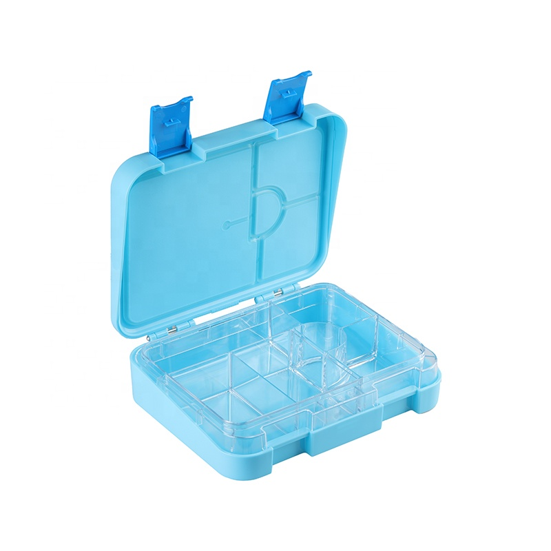 2021 Colorful Pp Tritan Office School Kids Lunch Boxes Double Layer Separate Easy Wash Bento Box