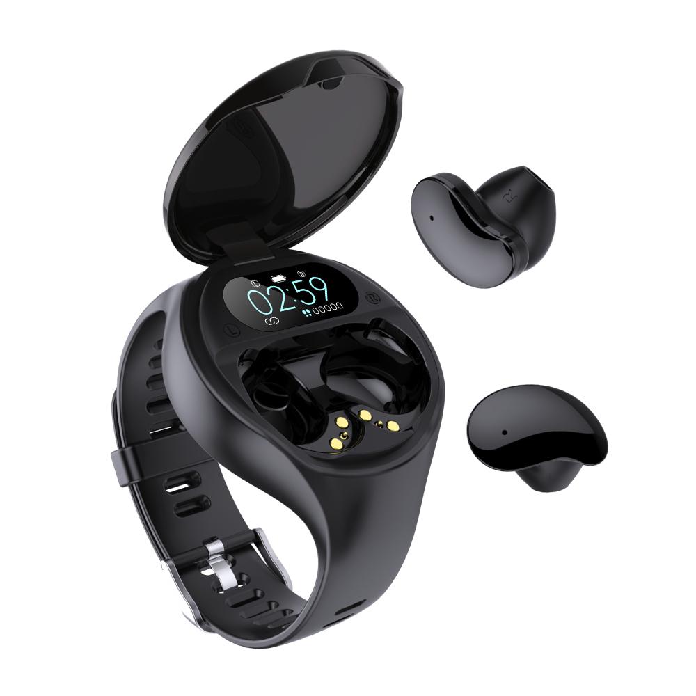 10 в 1 Смарт-часы наушник беспроводной HD экран Bluetooth tws наушники-вкладыши наушники высокого качества