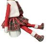 fluffy vest+short skirt+shoe
