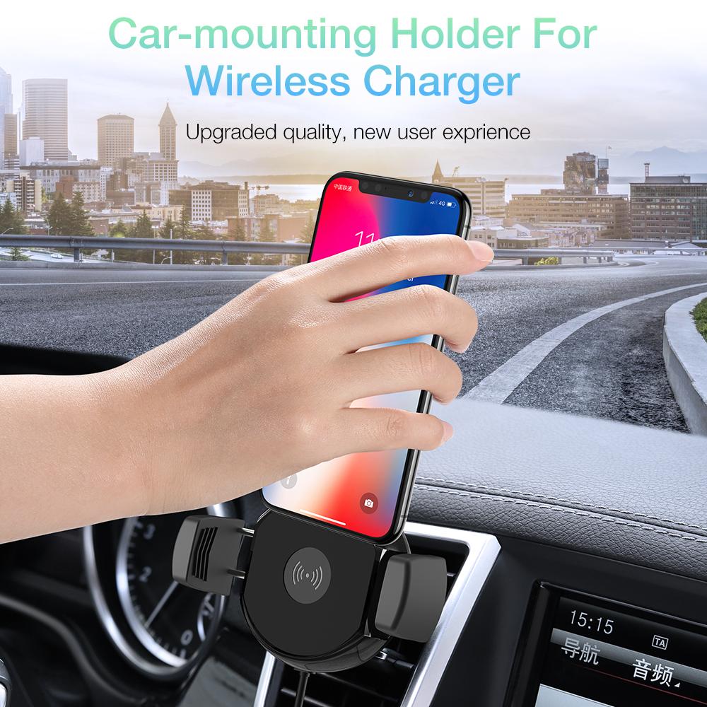 Бесплатная доставка 1 образец OK RAXFLY Новый универсальный 10 Вт Qi Быстрая зарядка Автомобильный держатель для мобильного телефона Беспроводное зарядное устройство
