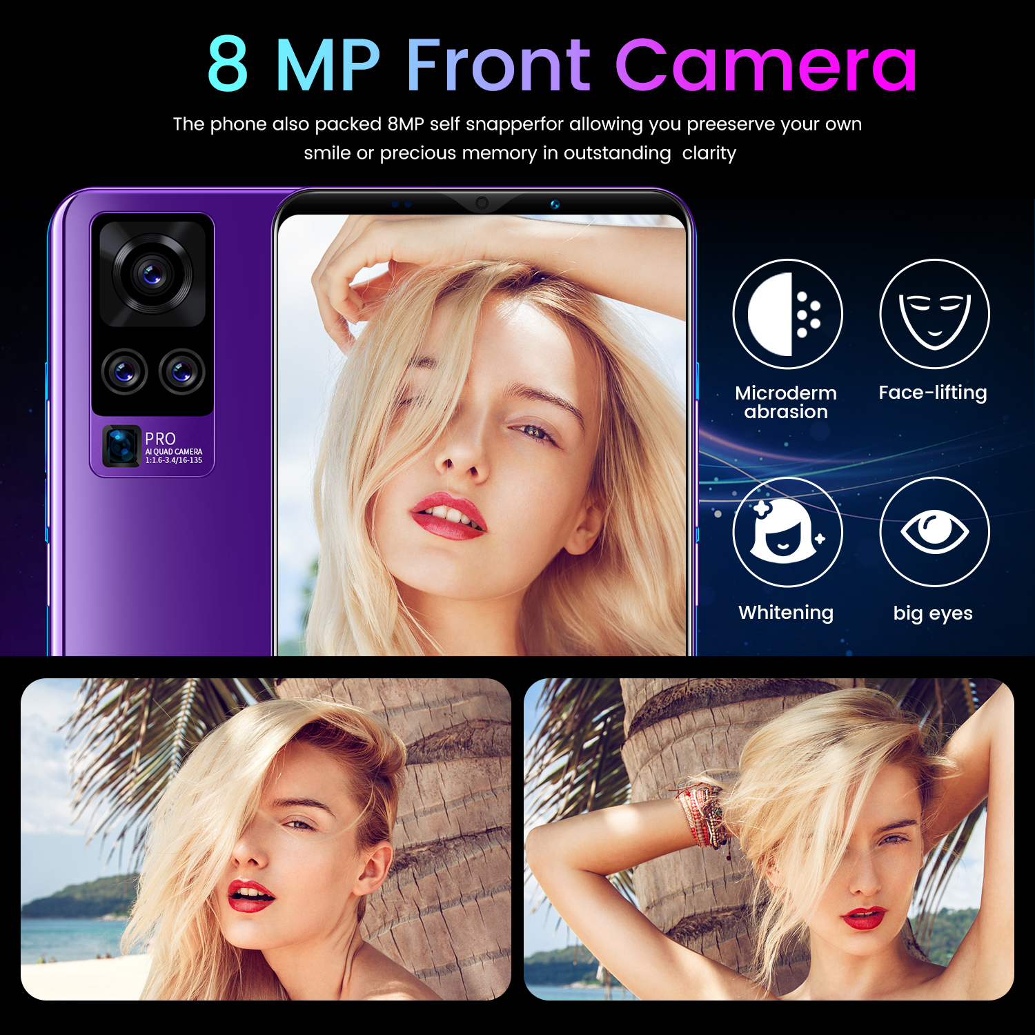 Cheap Original 5.8 inch Ram 4GB 64GB Rom Android 10.0 Unlocked Small Cell Phone Smart Mini 4G Mobile Phones