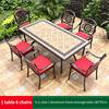 5-6 JL chair 1 Alu frame rectangle table 185*97cm