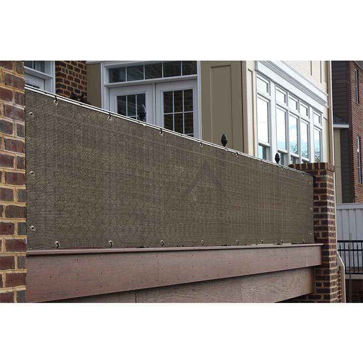 10'x20'  180gsm  Sunblock With Grommets 5%UV Green Reinforced Binding privacy screen for Garden and Balcony