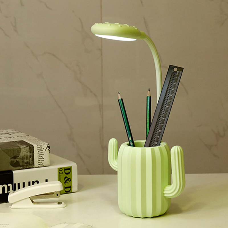 best quality Cactus rechargeable usb table lamps reading lamps for kids