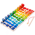 Number Fishing Jigsaw Multi-functional Logarithmic Educational Math Puzzle Game Toy Number Fishing Puzzle Toy