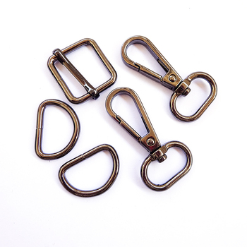 Purse Sewing Accessories Hardware Metal D Ring Adjust Buckle and Snap Hook Metal