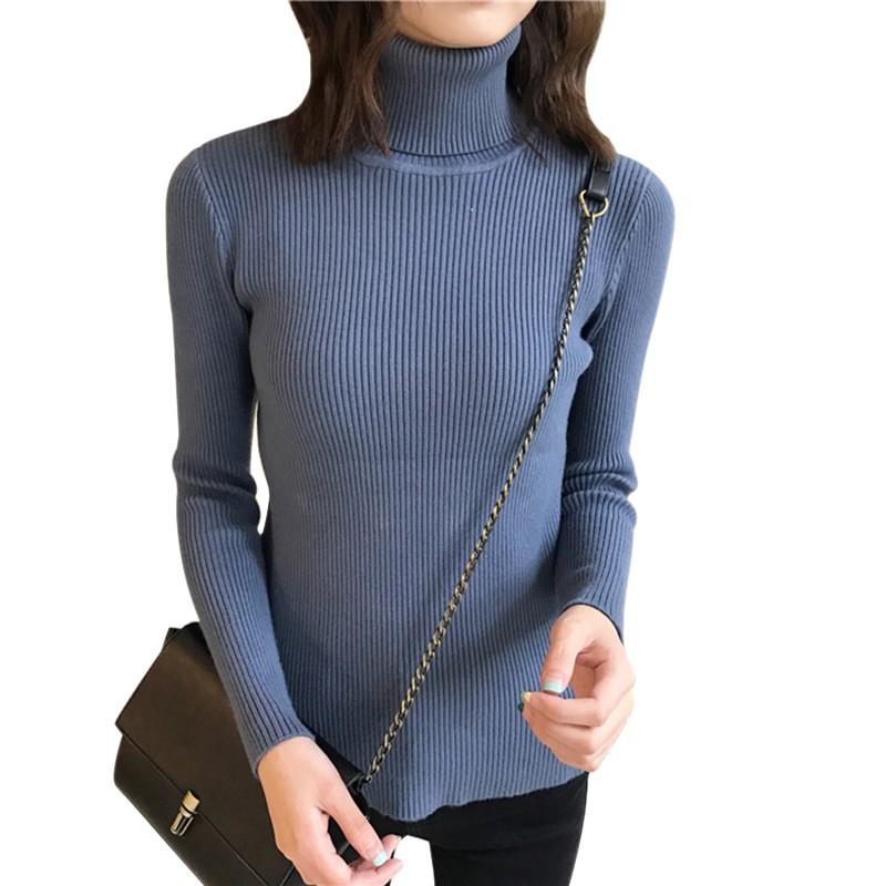 Otoño otoño mujeres suéter Delgado suave de manga larga de