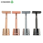 Mens Straight Metal Stainless Steel Double Edge Shaving Safety Razor