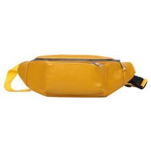 Поясная Сумка из искусственной кожи, Женская однотонная нагрудная сумка, Маленькая женская Повседневная элегантная легкая Повседневная На...(Китай)