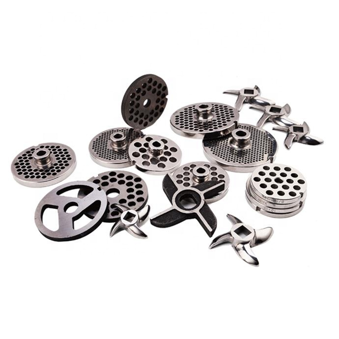32 Stainless Steel meat grinder machine replacement spare parts cutting blades knife and plates