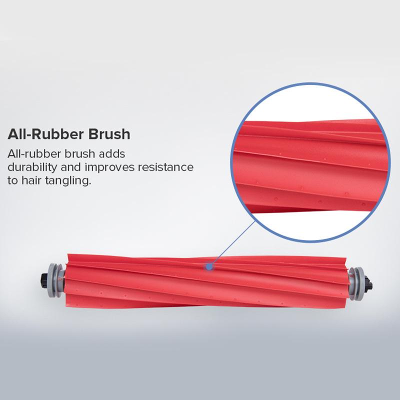Original Detachable Main Brush Accessories For Roborock S7 Robot Vacuum Cleaner Soft Silicon Roller Brush Spare Parts