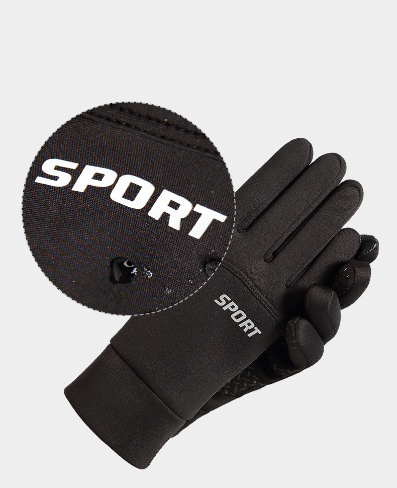 Hot sale winter anti skid windproof touch screen reflective strip adult riding gloves